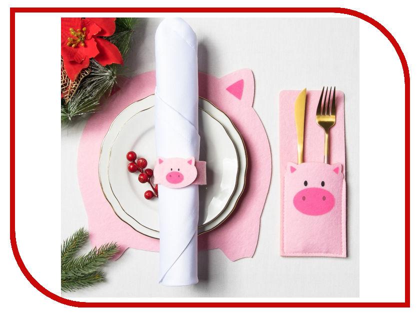 Набор для сервировки Доляна Свинка 3285098 жуковский пряник подарочный набор свинка и корова