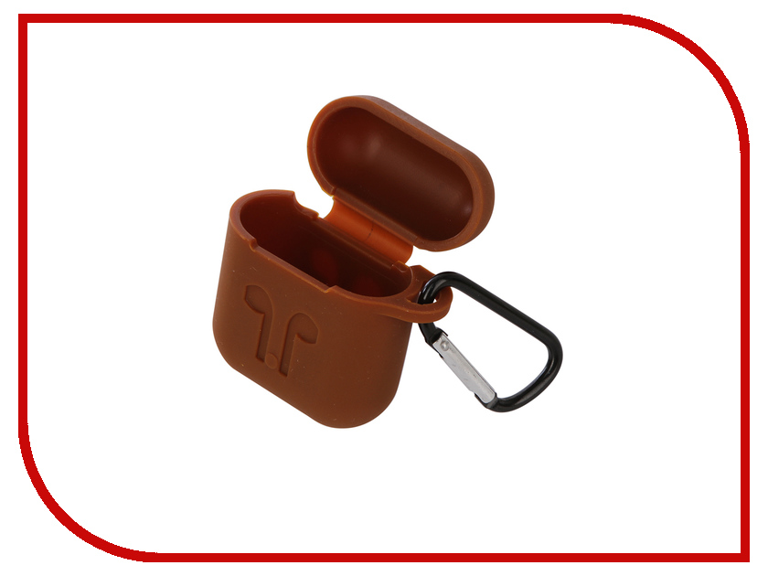 Аксессуар Чехол Gurdini Soft Touch Silicone для APPLE Airpods Brown Cocoa 906744 picun p3 hifi headphones bluetooth v4 1 wireless sports earphones stereo with mic for apple ipod asus ipads nano airpods itouch4