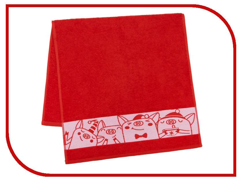 Полотенце Collorista Веселая компания 50x90cm Red 3658614 полотенце collorista фламинго 60x146cm 2588690