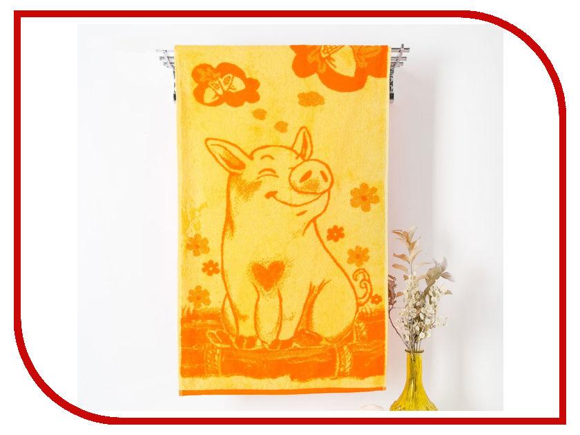Полотенце ДМ-люкс Lucky Pig 50x90cm Orange 3842145 дм 203
