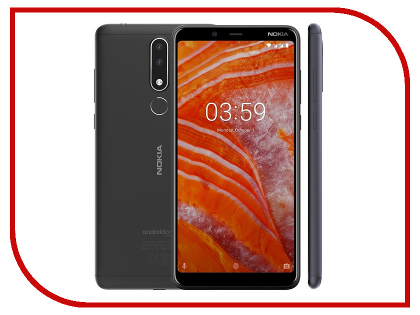 Сотовый телефон Nokia 3.1 Plus 32Gb Baltic смартфон nokia 5 1 plus 32gb white