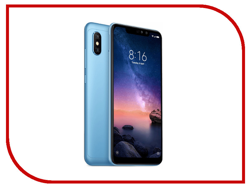 Сотовый телефон Xiaomi Redmi Note 6 Pro 3Gb RAM 32Gb Blue package xiaomi redmi note 4 3gb 32gb smartphone silver
