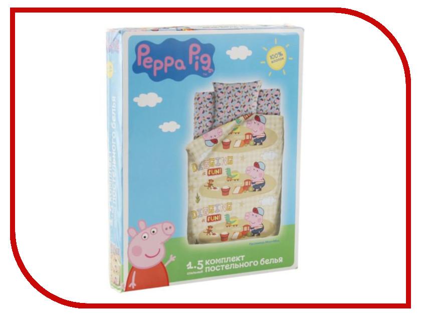Постельное белье Peppa Pig Песочница Комплект 1.5 спальный Бязь 2111574