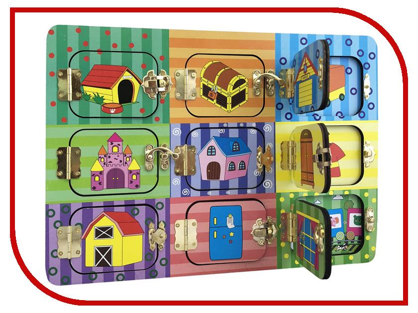 Бизиборд База игрушек Дверцы на замочках 4660007764112 лабиринт деревянный база игрушек model 1шт