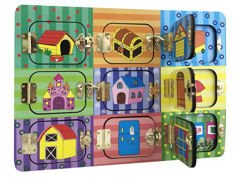 Бизиборд База игрушек Дверцы на замочках 4660007764112
