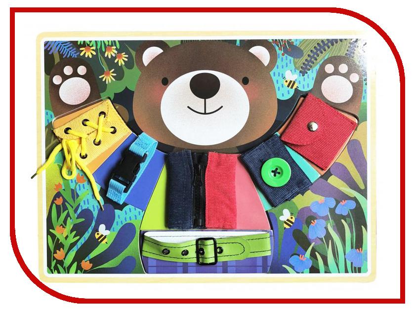 Бизиборд База игрушек Мишка косолапый 4660007764150 лабиринт деревянный база игрушек model 1шт