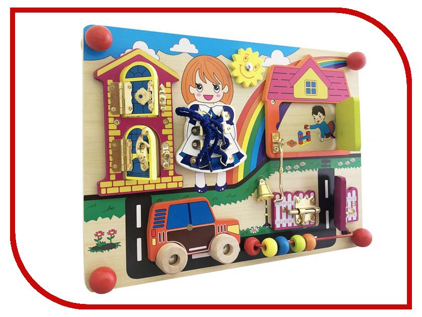 Бизиборд База игрушек Шнурочки, замочки 4660007764143 бэмби бизиборд замочки теремок