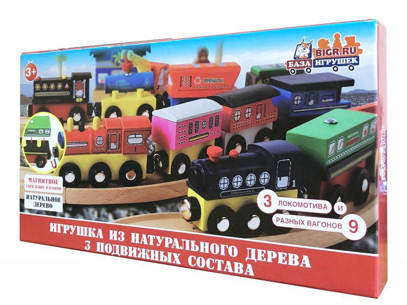 Игрушка База игрушек Деревяный поезд ДП-3 4660007763955 автотрек база игрушек улетные гонки взрывной гараж 4660007763900