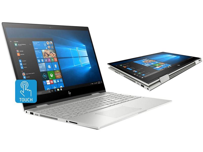 Ноутбук HP Envy x360 15-cn0008ur 4HC88EA Natural Silver (Intel Core i5-8250U 1.6 GHz/16384Mb/1000Gb + 256Gb SSD/nVidia GeForce MX150 4096Mb/Wi-Fi/Cam/15.6/1920x1080/Touchscreen/Windows 10 64-bit) ноутбук hp envy x360 15 cn1001ur intel core i7 8565u 1800 mhz 15 6 1920х1080 16384mb 256gb hdd dvd нет nvidia geforce mx150 wifi windows 10 home