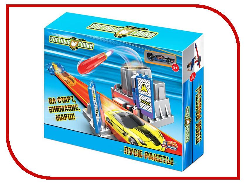 Автотрек База игрушек Улетные гонки Пуск ракеты 4660007763917 лабиринт деревянный база игрушек model 1шт