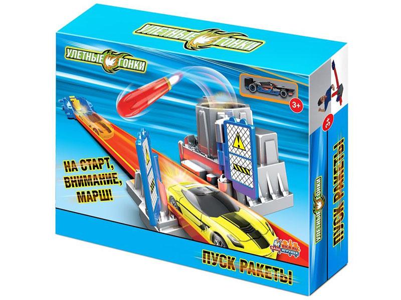 Автотрек База игрушек Улетные гонки Пуск ракеты 4660007763917