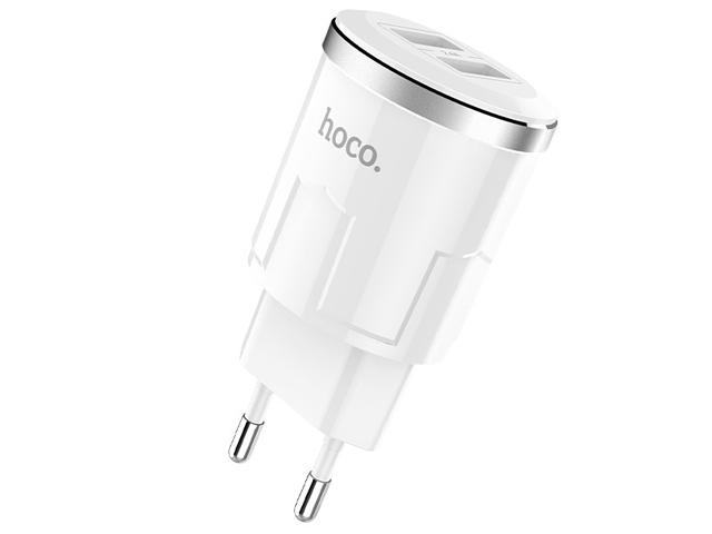 Зарядное устройство Hoco C38A Thunder 2xUSB 2.4A White