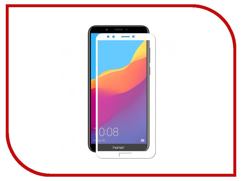 Аксессуар Противоударное стекло для Huawei Honor 7C Pro Innovation 2D Full Glue Cover White 12693 телевизор lg 43uj639v
