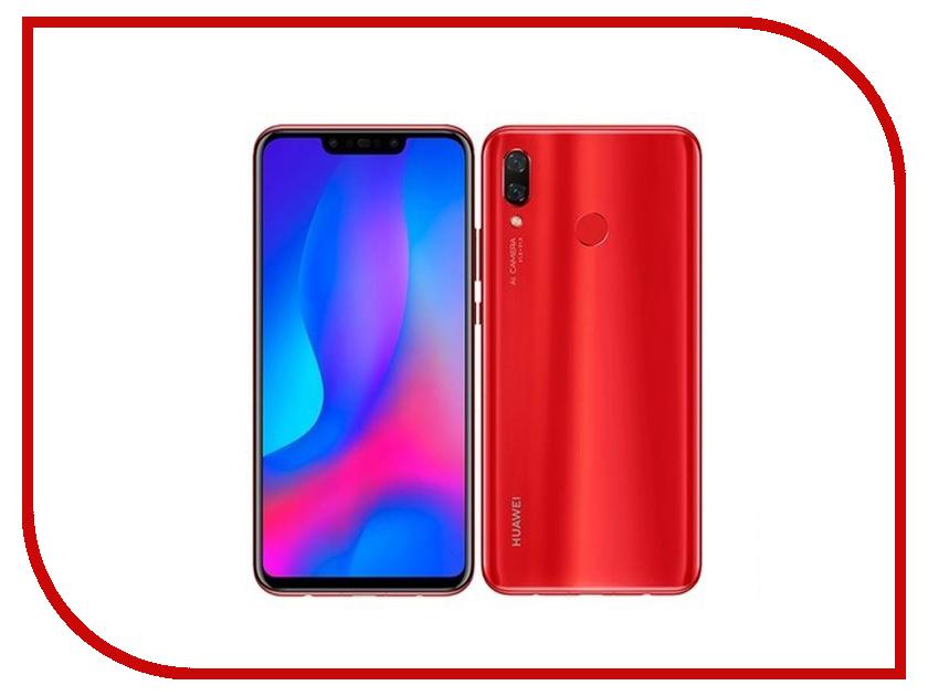 Сотовый телефон Huawei Nova 3 4/128GB Red складное 3 кратное зум увеличительное стекло сотовый телефон экран hd усилитель для 3d фильмов
