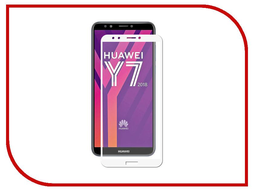 Купить Аксессуар Противоударное стекло для Huawei Y7 2018 Innovation 2D Full Glue Cover White 12705