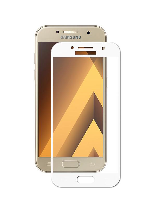 Аксессуар Защитное стекло Innovation для Samsung Galaxy A3 2017 A320 2D Full Glue Cover White 12786 аксессуар противоударное стекло для xiaomi mi 8 innovation 2d full glue cover white 12766
