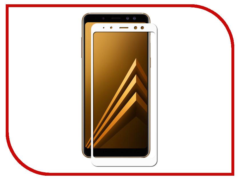 Аксессуар Противоударное стекло для Samsung Galaxy A8 Plus Innovation 2D Full Glue Cover White 12817 аксессуар противоударное стекло для samsung galaxy j4 plus 2018 innovation 2d full glue cover white 14202