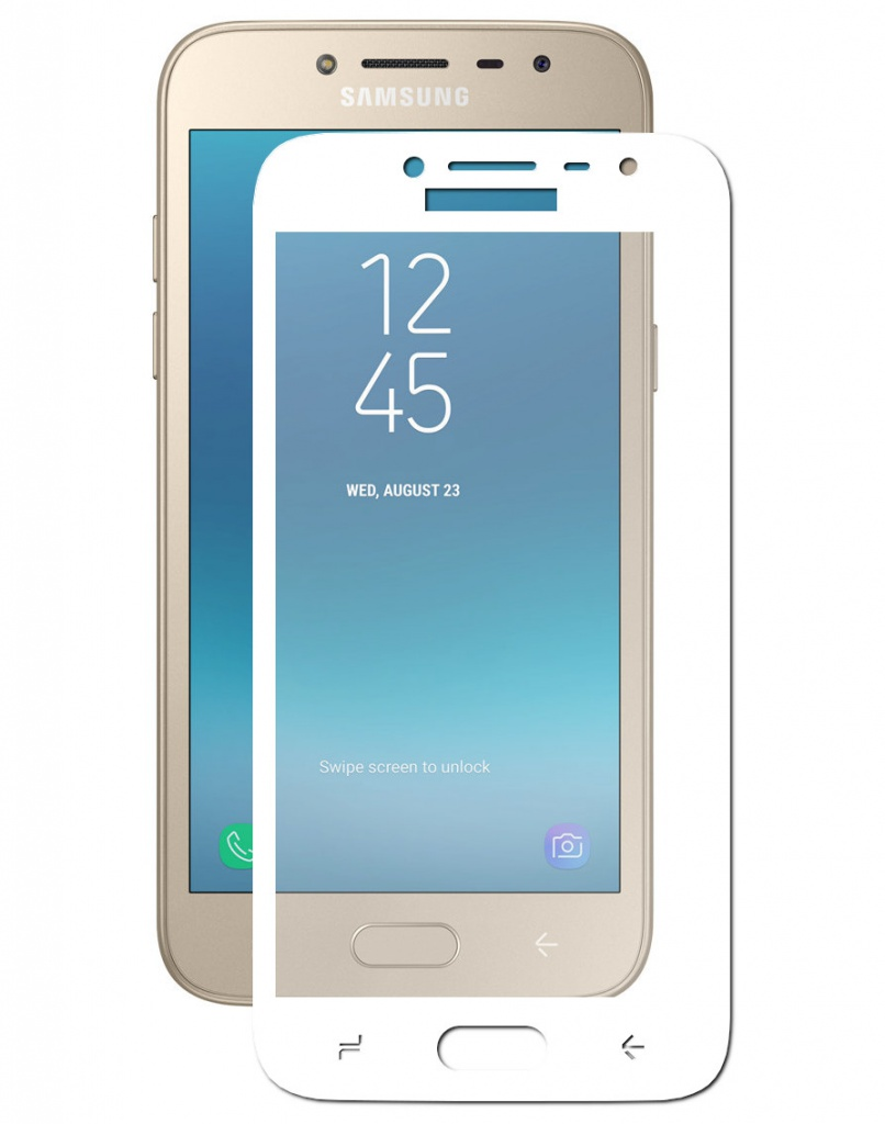 Аксессуар Защитное стекло Innovation для Samsung Galaxy J2 2018 2D Full Glue Cover White 12799 аксессуар противоударное стекло для xiaomi mi 8 innovation 2d full glue cover white 12766