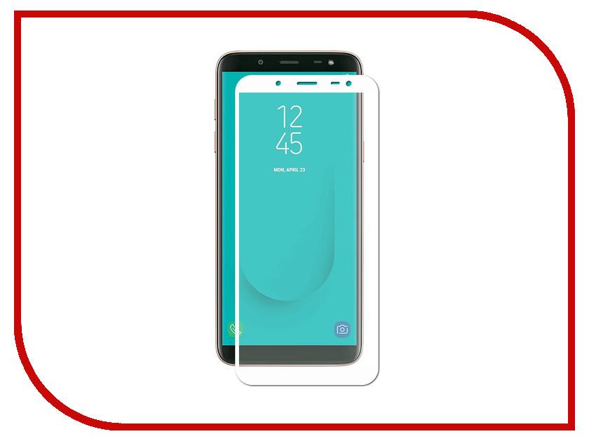 Аксессуар Противоударное стекло для Samsung Galaxy J6 2018 Innovation 2D Full Glue Cover White 12811 аксессуар противоударное стекло для samsung galaxy j4 plus 2018 innovation 2d full glue cover white 14202