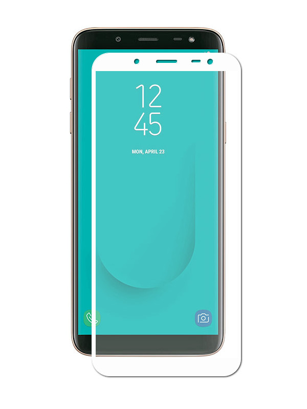 Аксессуар Защитное стекло Innovation для Samsung Galaxy J6 2018 2D Full Glue Cover White 12811