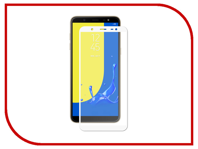 Аксессуар Противоударное стекло для Samsung Galaxy J8 2018 Innovation 2D Full Glue Cover White 12813 аксессуар противоударное стекло для samsung galaxy j7 2018 j730 innovation 2d full glue cover gold 12809
