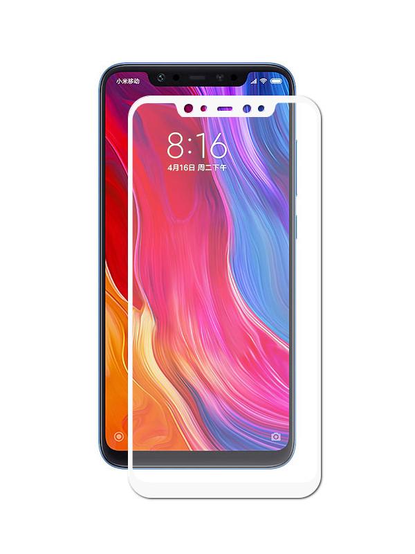Аксессуар Противоударное стекло Innovation для Xiaomi Mi 8 2D Full Glue Cover White 12766 аксессуар противоударное стекло для xiaomi mi mix 2s innovation 2d full glue cover black 12776
