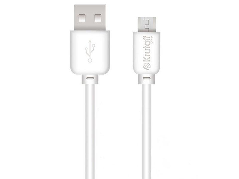 Аксессуар Krutoff Classic USB - microUSB 0.2m White 14852