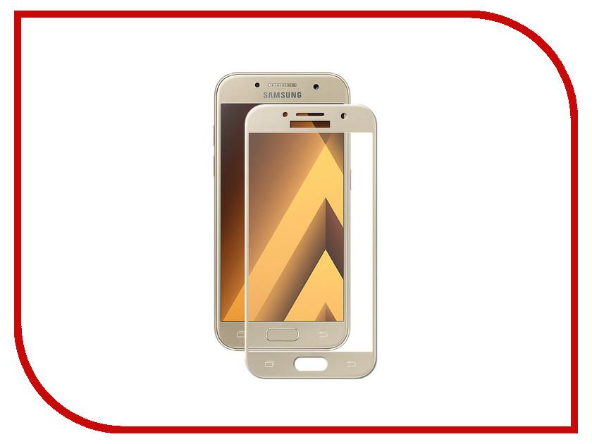 Аксессуар Противоударное стекло для Samsung Galaxy A3 2017 A320 Innovation 2D Full Glue Cover Gold 12787 аксессуар противоударное стекло для samsung galaxy j7 2018 j730 innovation 2d full glue cover gold 12809