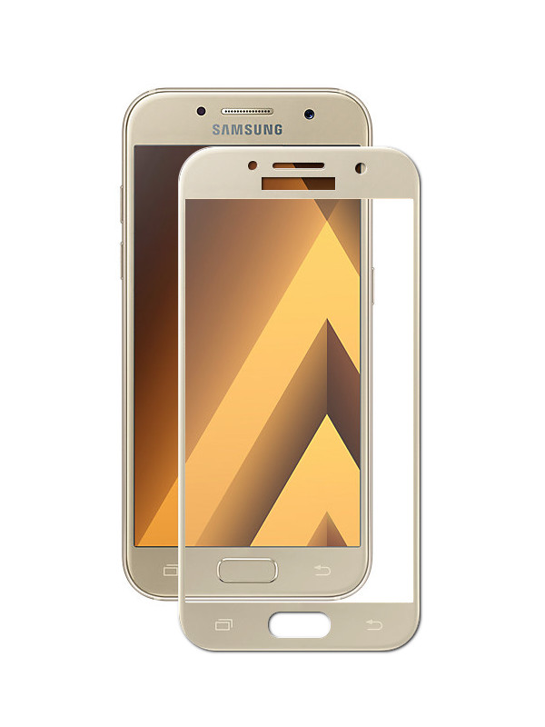 Аксессуар Защитное стекло Innovation для Samsung Galaxy A3 2017 A320 2D Full Glue Cover Gold 12787 защитное стекло interstep full screen cover 0 3мм sams a3 2017 a320 gold