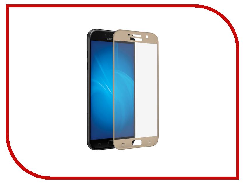 Аксессуар Противоударное стекло для Samsung Galaxy A7 2017 A720 Innovation 2D Full Glue Cover Gold 12793 аксессуар защитное стекло для samsung galaxy a7 2017 a720f gecko 2d fullscreen 0 26mm black zs26 gsga7 2017 2d bl