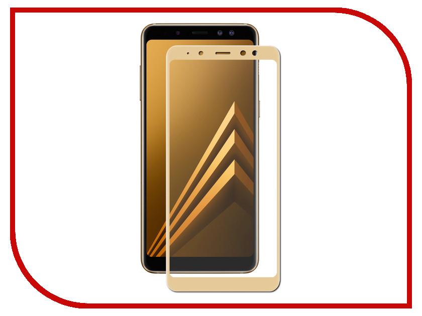 Аксессуар Противоударное стекло для Samsung Galaxy A8 Plus Innovation 2D Full Glue Cover Gold 12818 аксессуар противоударное стекло для samsung galaxy j4 plus 2018 innovation 2d full glue cover white 14202