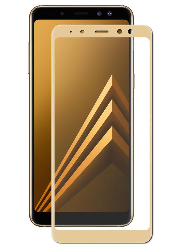 Аксессуар Защитное стекло Innovation для Samsung Galaxy A8 Plus 2D Full Glue Cover Gold 12818 аксессуар противоударное стекло для xiaomi mi 8 innovation 2d full glue cover white 12766