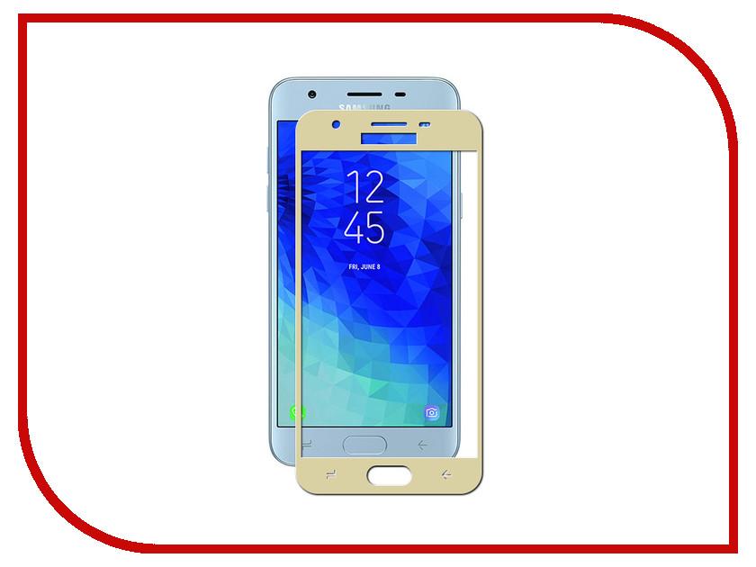 Аксессуар Противоударное стекло для Samsung Galaxy J3 2018 J330 Innovation 2D Full Glue Cover Gold 12803 аксессуар противоударное стекло для samsung galaxy a3 2017 a320 innovation 2d full glue cover gold 12787