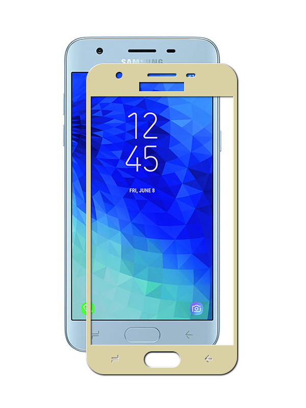 Аксессуар Защитное стекло Innovation для Samsung Galaxy J3 2018 J330 2D Full Glue Cover Gold 12803 аксессуар защитное стекло samsung sm j330 galaxy j3 2017 aksberry