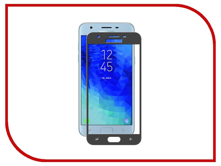 Аксессуар Противоударное стекло для Samsung Galaxy J3 2018 J330 Innovation 2D Full Glue Cover Black 12801 аксессуар защитное стекло для samsung galaxy j4 2018 innovation 2d full glue cover black 12335