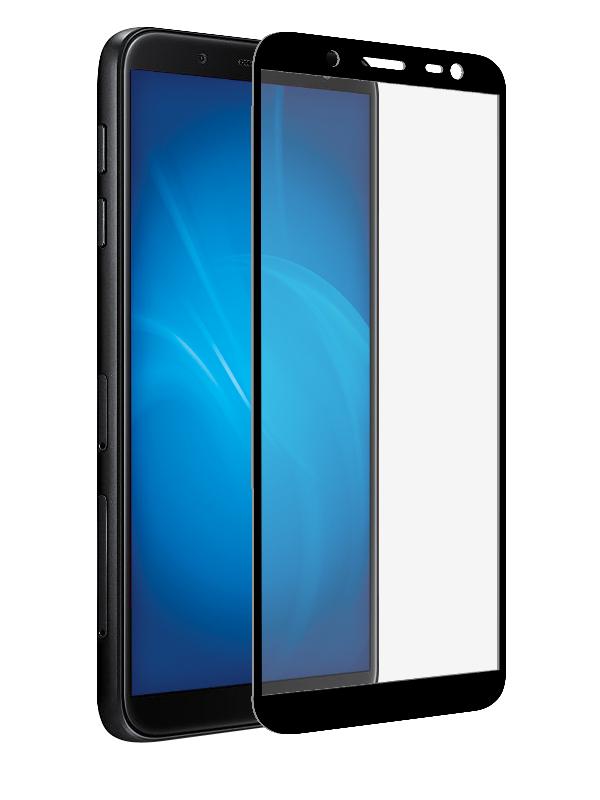 Аксессуар Защитное стекло Innovation для Samsung Galaxy J8 2018 2D Full Glue Cover Black 12812 аксессуар противоударное стекло для samsung galaxy a8 plus innovation 2d full glue cover gold 12818