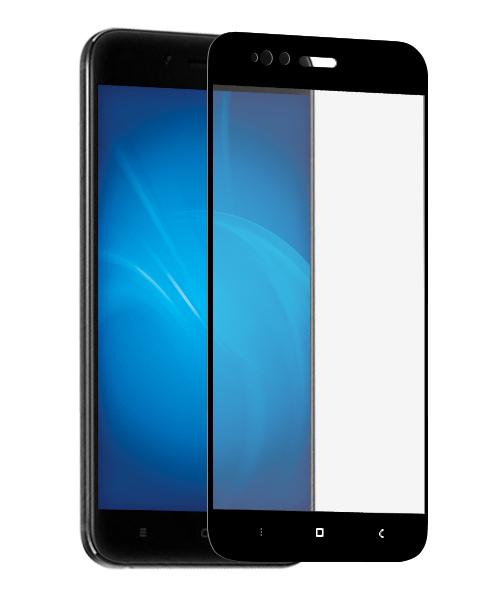 Аксессуар Противоударное стекло Innovation для Xiaomi Mi 5X 2D Full Glue Cover Black 12751 аксессуар противоударное стекло для samsung galaxy j4 plus 2018 innovation 2d full glue cover black 14203