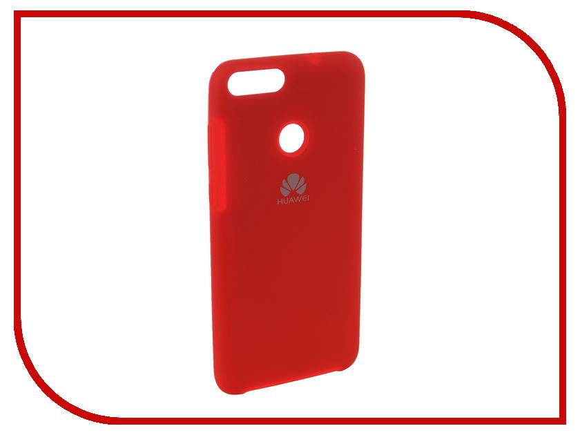 Аксессуар Чехол для Huawei P Smart /7S Innovation Silicone Red 12838 аксессуар чехол для huawei p smart enjoy 7s red line unit black ут000014362
