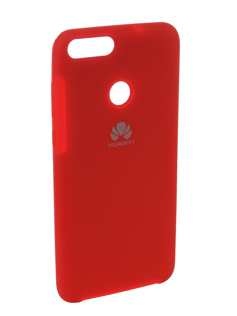 Аксессуар Чехол Innovation для Huawei P Smart /7S Silicone Red 12838