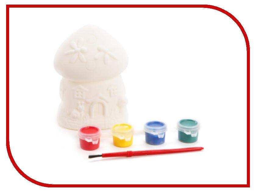 Color Puppy Роспись копилки Домик-грибочек 95405 color puppy набор для творчества роспись копилки хрюша