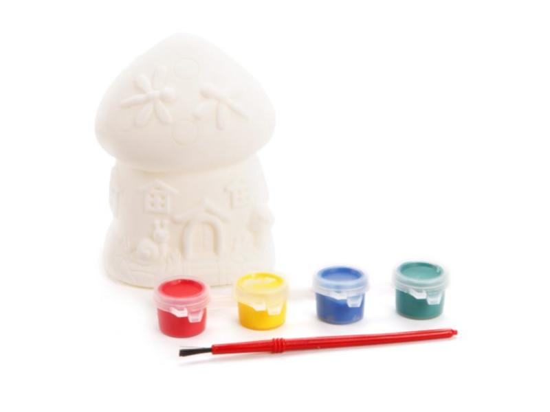 Набор для раскрашивания Color Puppy Роспись копилки Домик-грибочек 95405