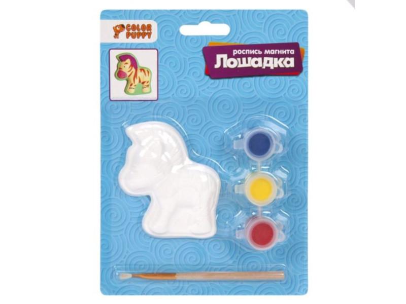 Набор для раскрашивания Color Puppy Роспись магнита Лошадка 95366