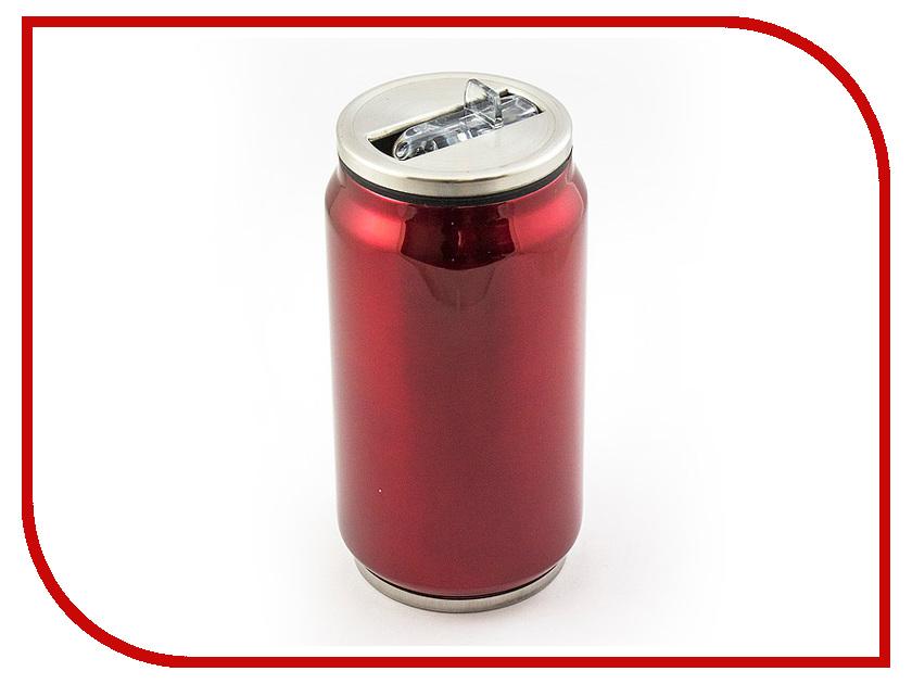 Термокружка Эврика Банка 330ml Red 99003