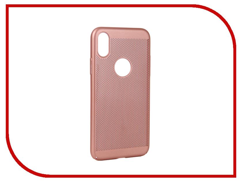 Аксессуар Чехол для APPLE iPhone X BROSCO Perforated Pink IPX-HOLE-PINK on sale 1pc universal hole saw 250mm m42 bi metal hole saw steel iron wood plastic hole opener underreamer pipeline perforator