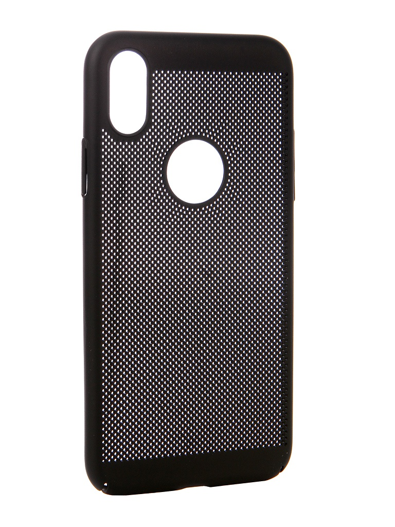 Аксессуар Чехол Brosco для APPLE iPhone X Perforated Black IPX-HOLE-BLACK