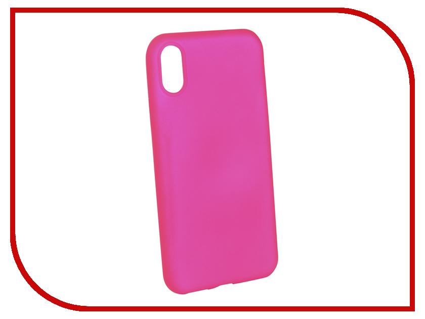 Аксессуар Чехол Brosco для APPLE iPhone X Pink Matte IPX-COLOURFUL-PINK