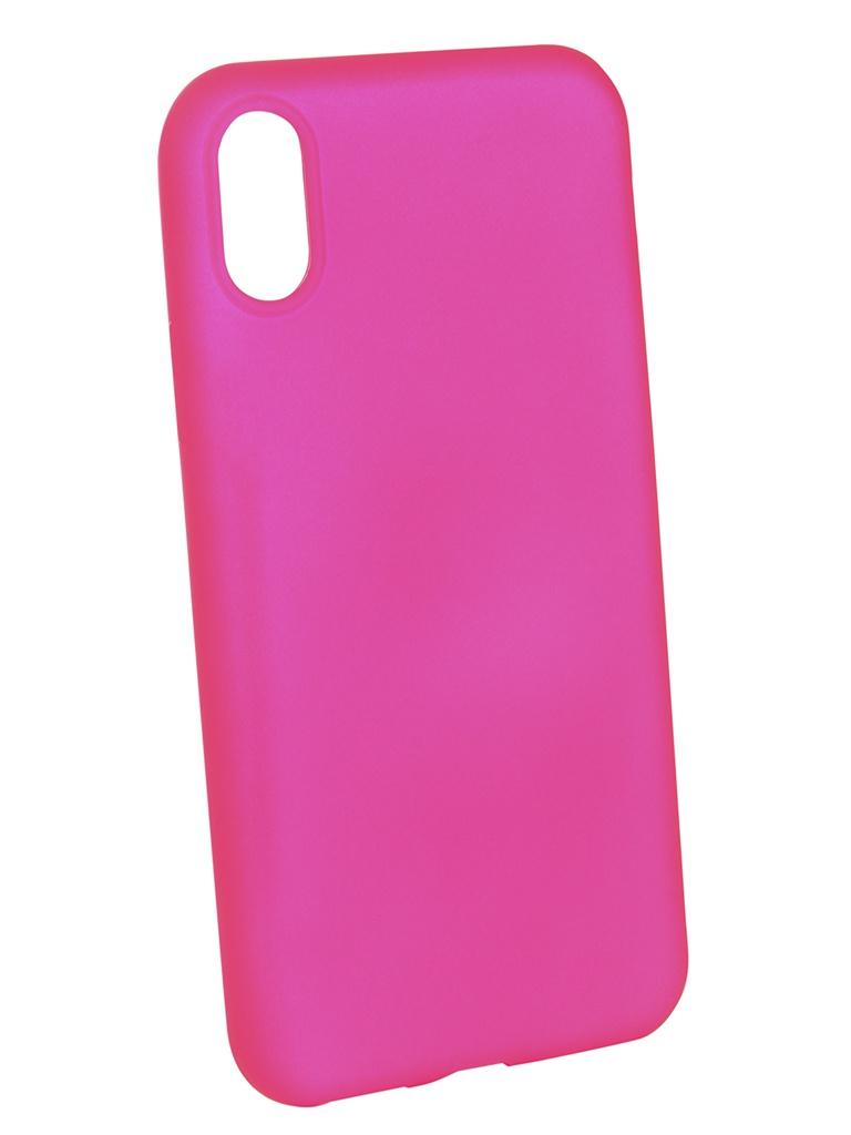Аксессуар Чехол Brosco для APPLE iPhone X Pink Matte IPX-COLOURFUL-PINK чехол для сотового телефона brosco colourful для sony xz2 xz2 colourful pink розовый