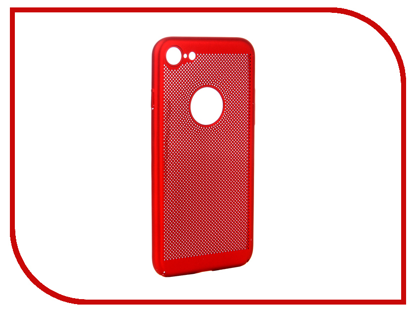 Аксессуар Чехол для APPLE iPhone 8 BROSCO Perforated Red IP8-HOLE-RED yoursfs red 8
