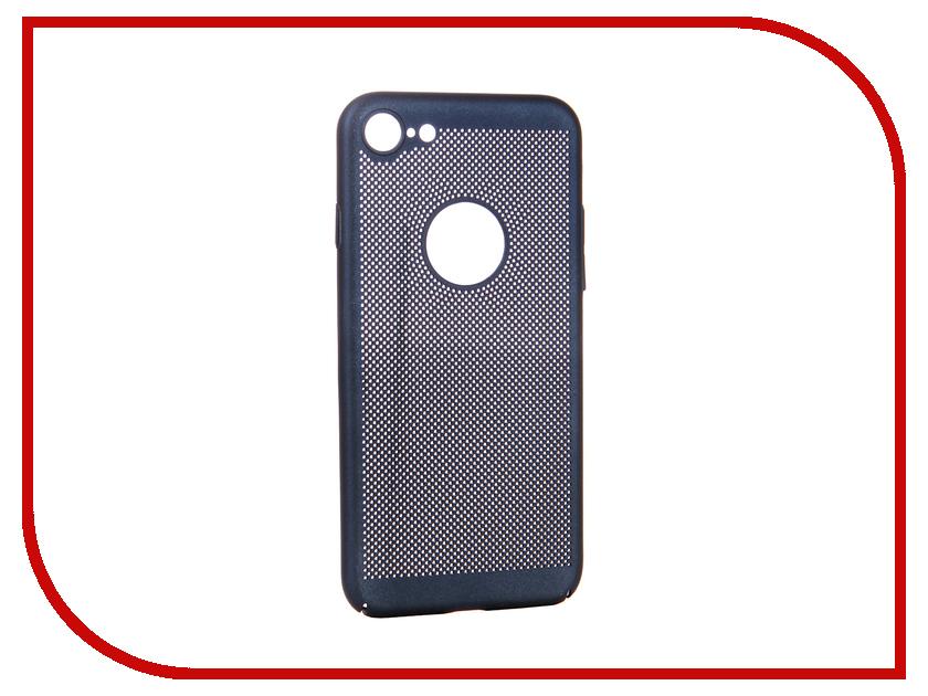 Аксессуар Чехол для APPLE iPhone 8 BROSCO Perforated Blue IP8-HOLE-BLUE william 10 hole c key complex tone children harmonica blue