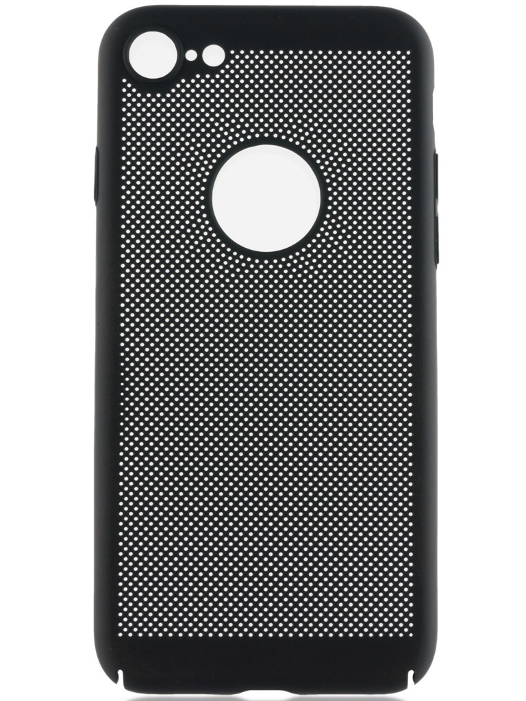 Чехол Brosco для APPLE iPhone 8 Perforated Black IP8-HOLE-BLACK